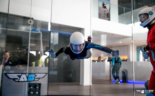 Vanessa Folkner Flying at Airspace Indoor Skydive